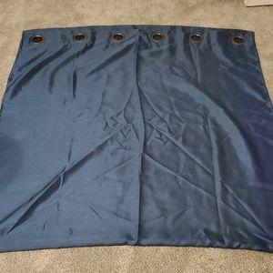 Six blue curtain panels